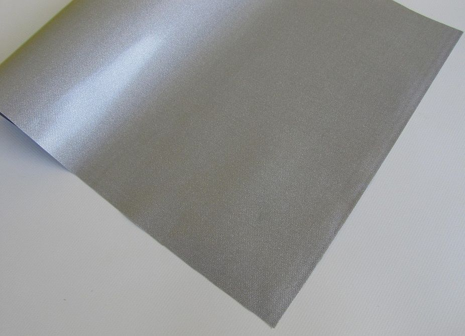PVC plachtovina stříbrná