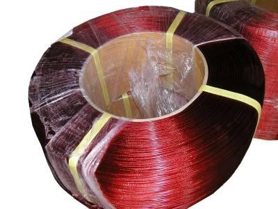 Ocelové lanko červené návin