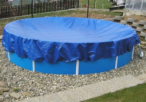 Krycí plachty na bazén kruhového a oválného tvaru