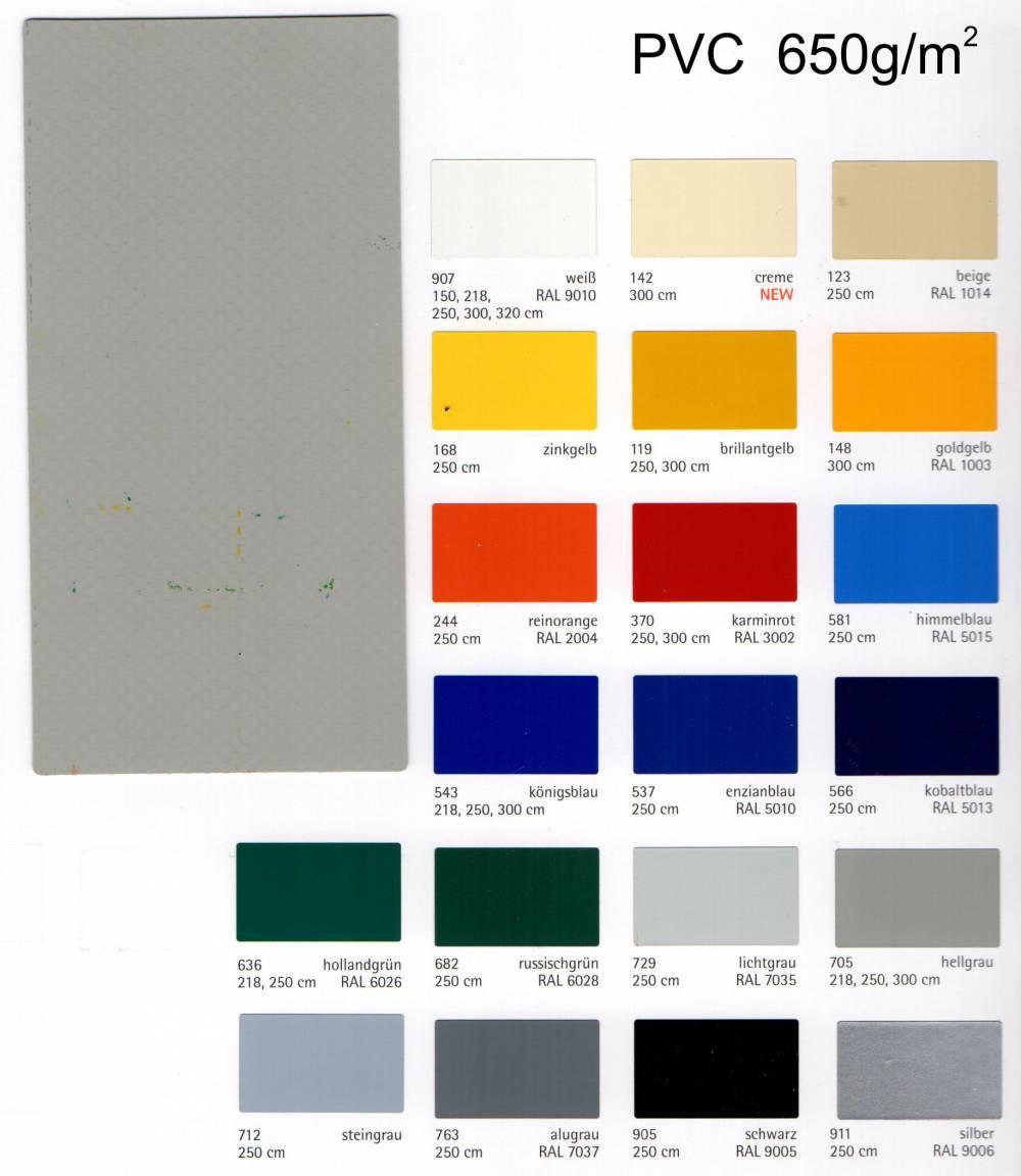 PVC plachtovina 650 g/m²
