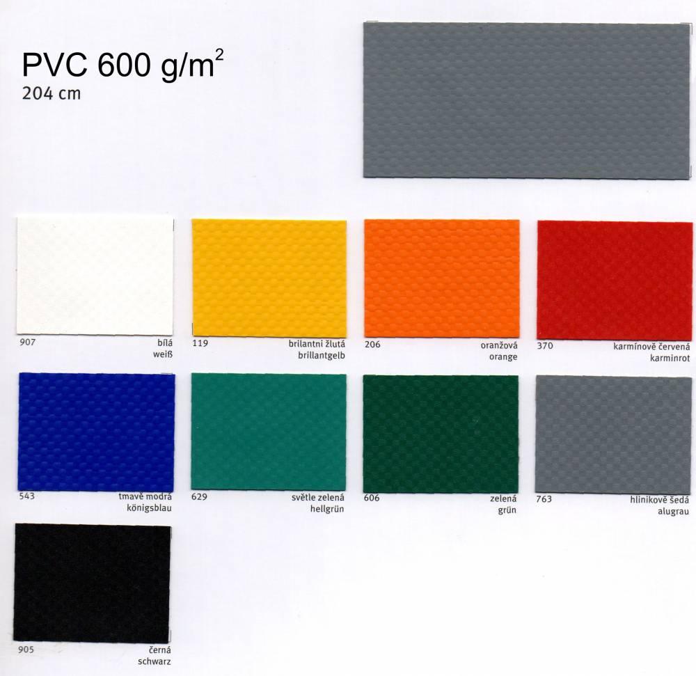 PVC plachtovina 600 g/m²