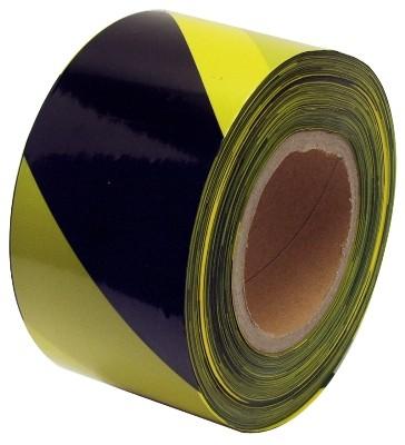 Varovací páska černá-žlutá