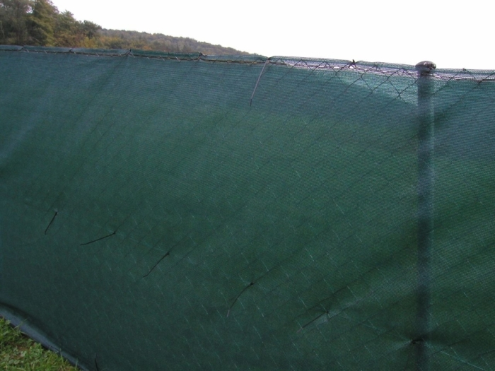 Sítě stínící na plot PloteS tmavě zelené 180g/m² stínivost 90% - standardní role