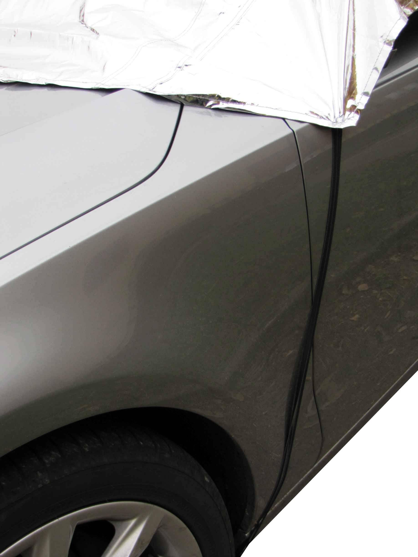 Plachty na auta TOP k zakrytí střechy a skel karoserie - detail uchycení