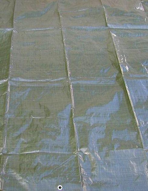 Krycí plachty s oky PE 120g/1m² zelené