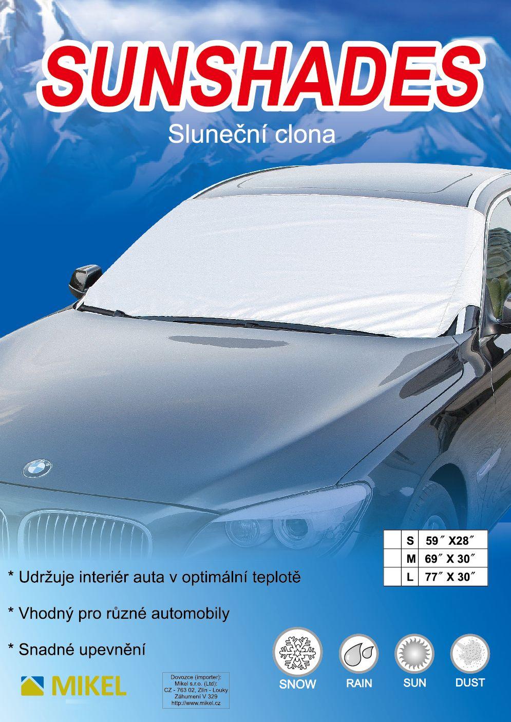 Sluneční clona do auta na čelní sklo