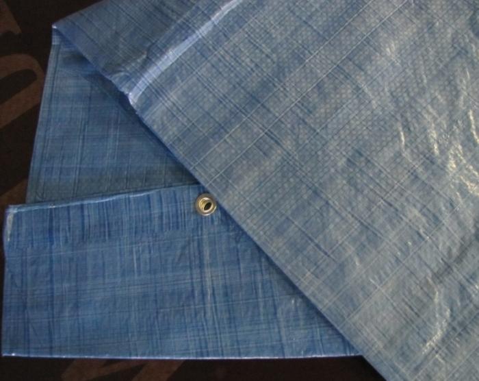 Krycí plachty s oky PE 60g/1m² modré