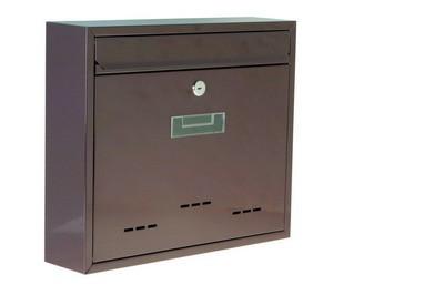 Poštovní schránka ocel - hnědá a bílá