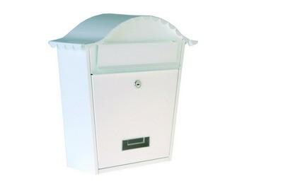 Poštovní schránka ocel - bílá
