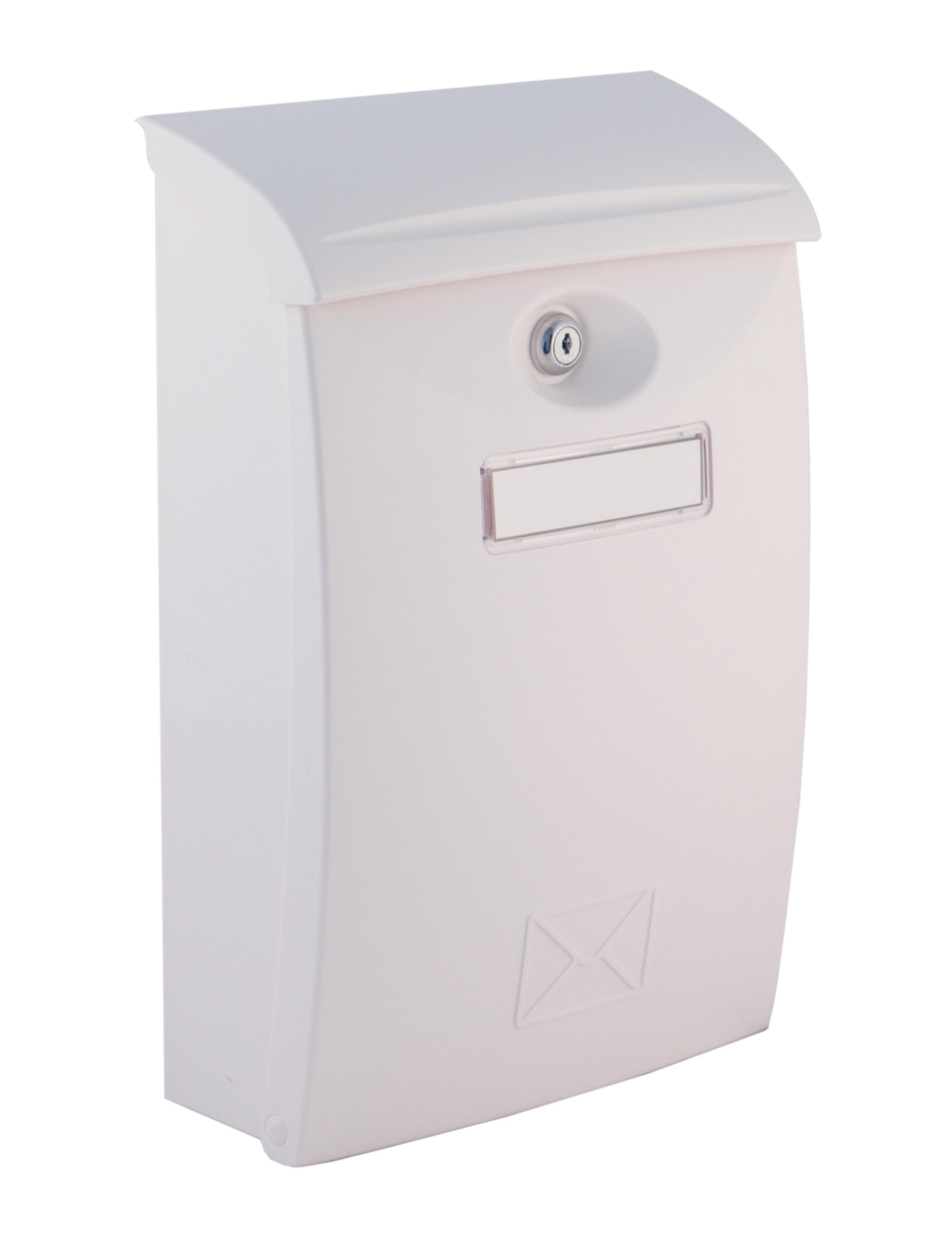 Poštovní schránka PVC - bílá a hnědá