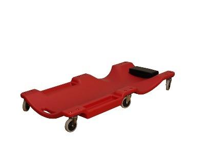 Plastové lehátko pojízdné,6koleček,red