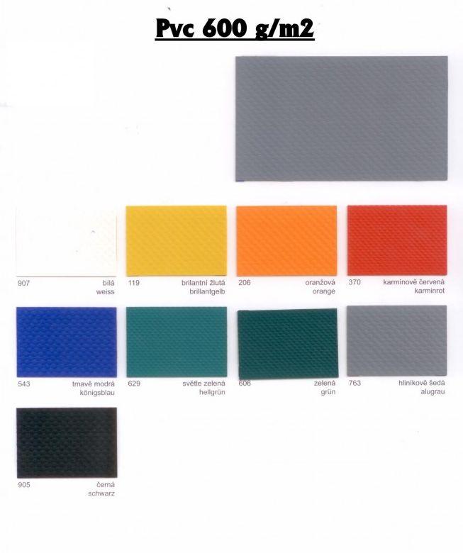 PVC plachtovina vzorník