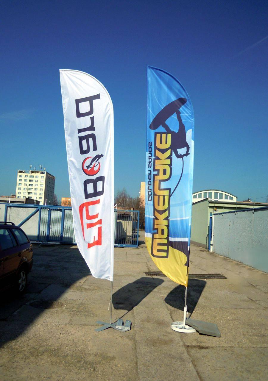 Beach flag - tvar D